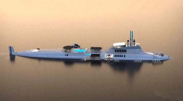 的超豪华潜水游艇